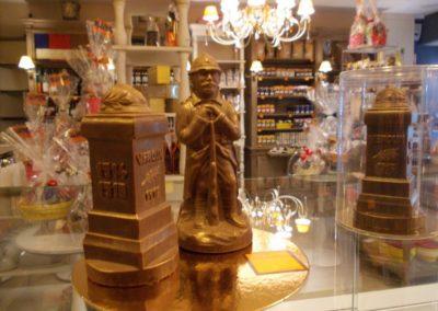 Poilu de Verdun en chocolat dans la boutique Terra Chocolata de Verdun 55100