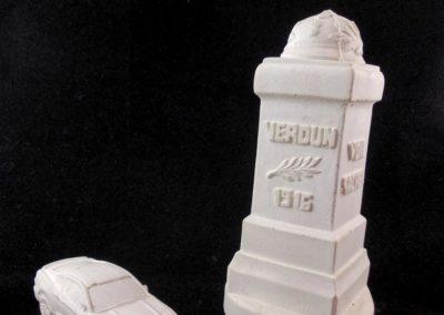 Borne de la voie sacrée : matrice en plâtre pour création de moule sujet en chocolat