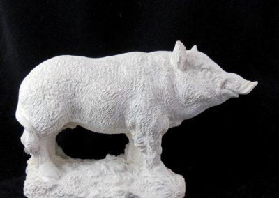 Sanglier : matrice en plâtre pour création de moule sujet en chocolat