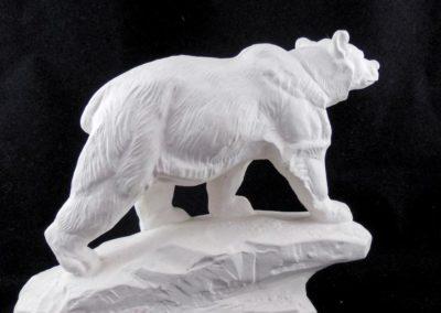 Ours : matrice en plâtre pour création de moule sujet en chocolat